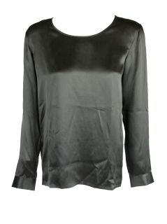 Barbara Bui womens long sleeve silk round neck blouse $445 New