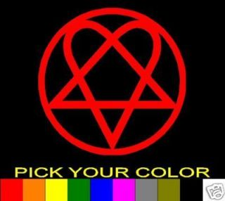 Him Heartagram 5 Bam Margera Decal Sticker Vinyl