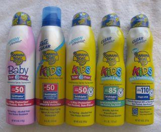 Banana Boat Sunscreen Sunblock Baby Kids SPF UVB 50 85 110 New SEALED