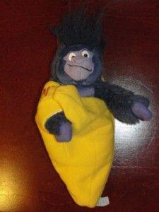 Applause Plush Gorilla Disney Stuffed Animal Toy Banana 8 Tall