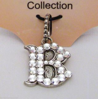 Western Charms Add A Charm Initials Letter B Silver