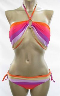 Ladies New ROXY HERMOSA SUNSET BANDEAU BIKINI Size 14 RRP 69 99