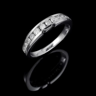 75 CTW VS2 G Round Shape Diamond 14k White Gold Wedding Band