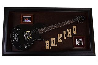 King Autographed Signed Guitar Custom Display Case PSA UACC RD COA
