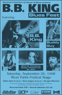King Buddy Guy 1998 Original Concert Poster