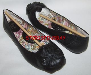 BORN BOC ORIANA BLACK 6.5 LOAFERS WOMENS NEW LEATHER FLATS SHOES