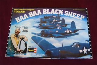 RARE Vintage REVELL BAA BAA Black Sheep WWII Corsair Military MODEL