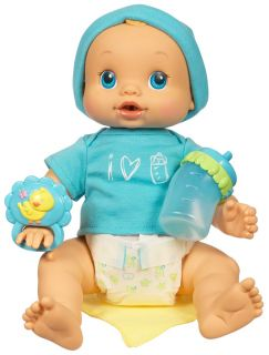 Hasbro Baby Alive Wets N Wiggles Baby Boy Doll with Bottle Rattle