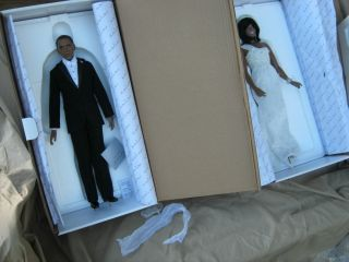 President Barack Obama and Michelle Porcelain Inaugural Dolls