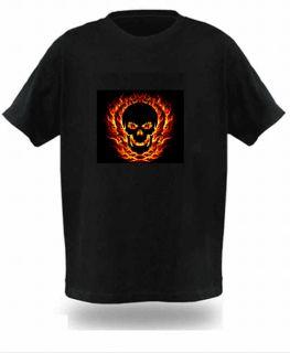 Black Sound Bar Disco DJ Music Dance Activated Equalizer LED T Shirts