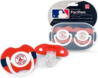 Red Sox Pacifiers 2 Pack Set Infant Baby Fanatic BPA Free MLB