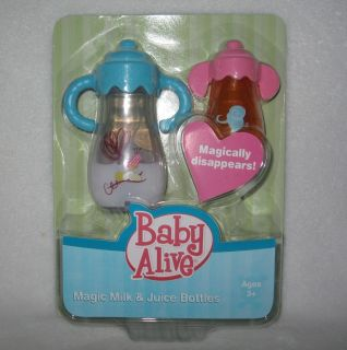NIP Doll Baby Alive Magic Milk Juice Bottles Disappearing Sippy Bottle