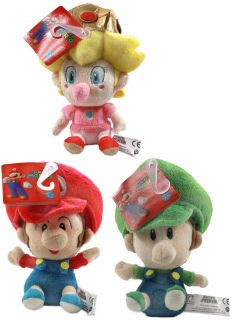 Super Mario Bros Baby Plush Set of 3 With Mario Luigi & Peach