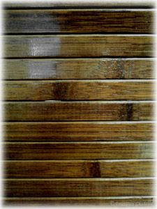 48 inches Chocolate Brown Slat Bamboo Decorative Table Runner