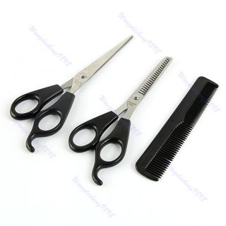 Thinning Hairdressing Shears Scissors Comb Set Barber Tool