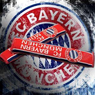 New Red Bayern Munchen Logo Car Seat Belt Soft Pad Cover 2pcs