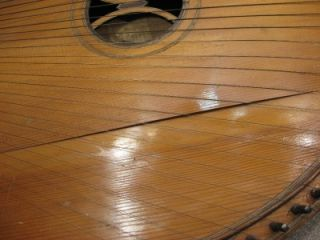 SV Ukrainian Antique Bandura Made in 1924 Harp Zither Guitar Banjo
