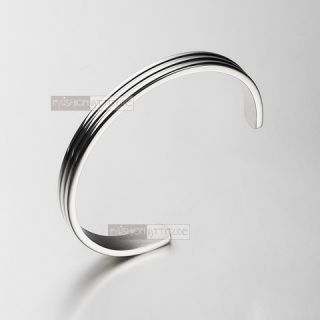 BIDDING ON A TOP QUALITY 316 STAINLESS STEEL MENS BANGLE BRACELET