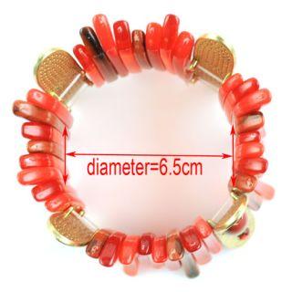 Colors Fashion Ladies Resin Bangles Cool Bracelets Elastic Jewellery
