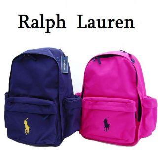 NWT RALPH LAUREN BIG PONY GIRLS PINK BACKPACK SCHOOL BOOK BAG ~LIMITED