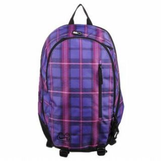 Nike Womens Jrs Purple Pink Plaid Solo Backpack New $50