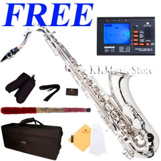 New Pro Level Nickel Tenor Saxophone Sax Tuner 10 Reeds