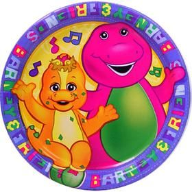 Barney Party Supplies 16 Plates Cake Dessert Baby Bop