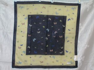 Hanae Mori Large Collection Cotton Scarf Handkerchief Butterflies