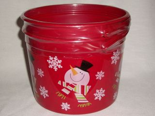 Plastic Bucket Lid Christmas Holiday Candy Baked Goods Gift
