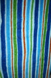 Baruch Striped Throw Blanket Ultra Plush Blue Green Orange Afghan Boy