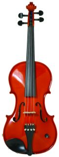 Barcus Berry 4 4 Size Acoustic Electric Violin Natural Open Box