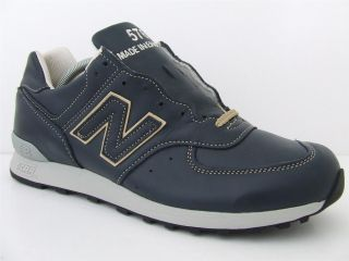 Mens New Balance Trainers 576 Shi Navy Leather Deadstock Sneakers Made