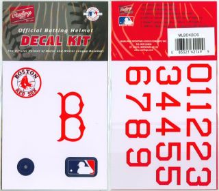 Logo Decal Kit w Numbers All 30 Major League Baseball Teams