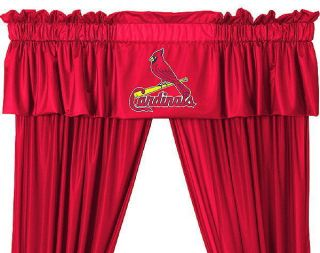 New St Louis Cardinals MLB Logo Jersey Window Valance 88 x 14