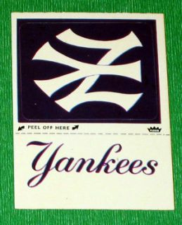 1980 Fleer Baseball World Series New York Yankees Sticker 1950 Version