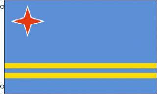x5 Aruba Flag Outdoor Banner Caribbean Island 3x5