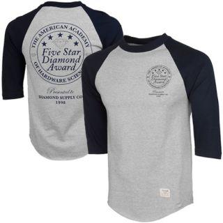 Diamond Supply Co Hardware Sciences Raglan Baseball T Shirt Navy Ash