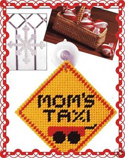 Moms Taxi Snowflake Mini Basket Plastic Canvas Pattern