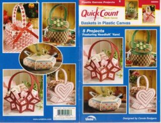 Baskets in Plastic Canvas Pattern Book 5 Designs