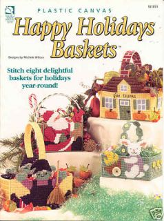 Happy Holiday Baskets Plastic Canvas Book