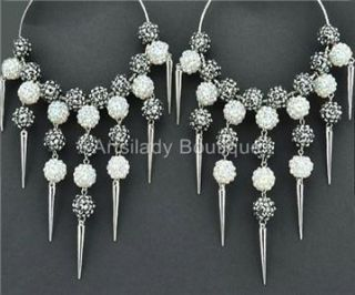 New Stunning Basketball Wives 24 Beads Bling Hoop Earrings Uniquely