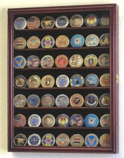 Military Challenge Coin Display Case Cabinet Rack Shelf