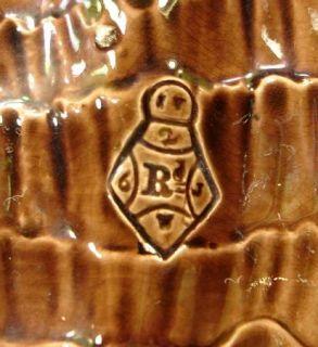 ANTIQUE J HOLDCROFT MAJOLICA BROWN SHELL SHAPE 12 BOWL 1880