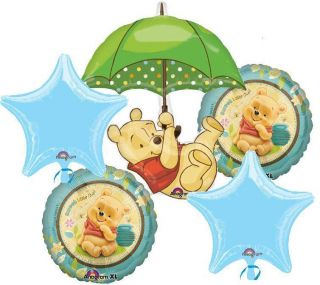 WINNIE THE POOH BABY SHOWER BALLOONS BOUQUET SUPPLIES DECORATIONS