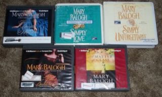 Lot of 5 Mary Balogh Unabr CD Audio Books The Secret Mistress