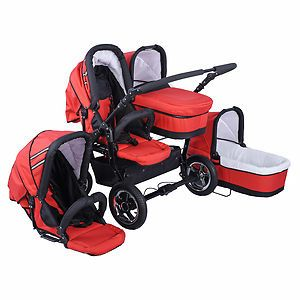 Buggy Double Baby Stroller 2 bassinets + 2 toddler seats Brand New