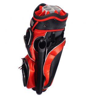 RJ Sports Bandon ll Black Silver Golf Cart Bag 14 Way Full Length