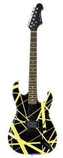 New Black & Yellow Starter Electric Guitar Solid Body Full Size with