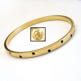 Swarovski Vintage Bangle Bracelet Signed Swan Mark Red Blue Crystals