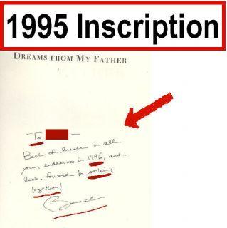 My Father President Barack Obama Autograph Association Copy